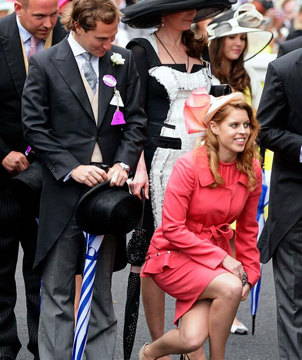 Just like her mum, Princess Beatrice has inherited a strong and low bob.