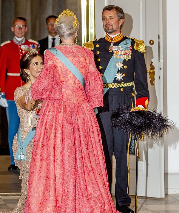 The affection between Princess Mary and her mother-in-law Queen Margrethe II of Denmark was on show at Crown Prince Ferderik's 50th birthday celebrations in May 2018.