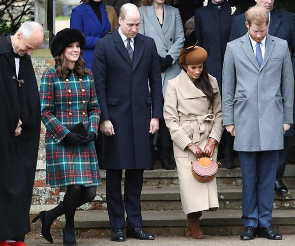 "Who could forget this moment? Joining the royal family [for Christmas at Sandringham](https://www.nowtolove.com.au/christmas/royal-christmas/meghan-markle-kate-middleton-prince-harry-william-royal-christmas-43850|target=""_blank"") just months before her wedding, Meghan Markle showed off her first public curtsy to The Queen. While seasoned Kate led the way, Meghan's was a little more wobbly but that's what makes us love her even more - she's just like us!"