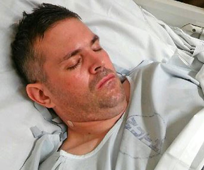 Paul in hospital *Pictures exclusive to Take 5*