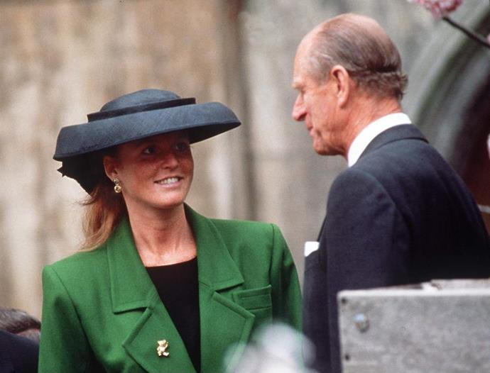 Prince Philip reportedly cut off Fergie after *that* toe-sucking scandal.
