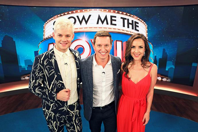Rove with his *Show Me The Movie!* co-stars Joel Creasey and Jane Harber.