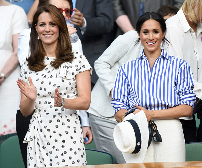 The Duchesses are matched in style, but not height.