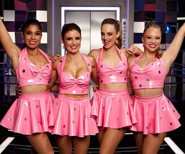 The ladies of Summer Bay sparkle in pink.