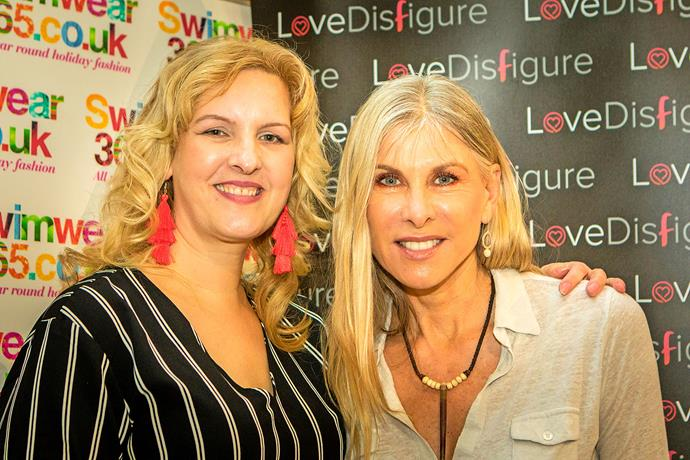 Sylvia with Olympic swimmer Sharron Davies ***Pictures exclusive to Take 5.***