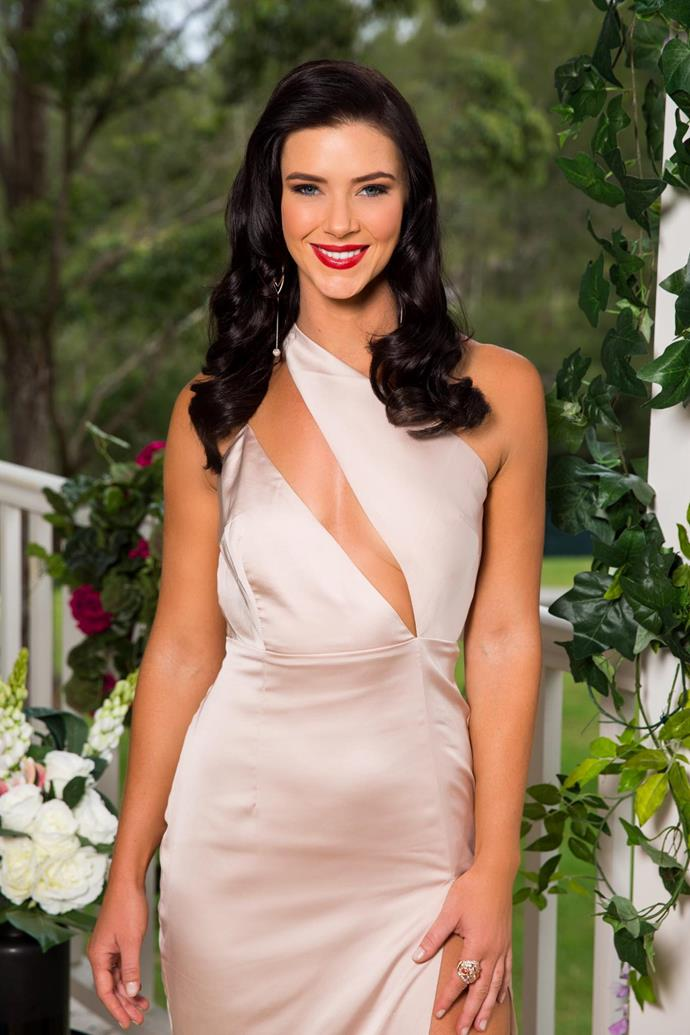 She's the favourite to steal Nick Cummins heart and pretty brunette Brittany Hockley may have accidentally let it slip she's won the show!