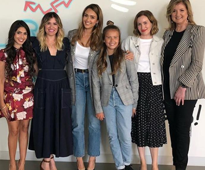 "With their long brunette tresses, denim jeans and grey blazers, Jessica Alba and her eldest child Honor are the cutest matching mummy-daughter duo! The 10-year-old joined her mum and four other businesswomen at an event on Monday where the young feminist gave an impassioned speech discussing female empowerment and the gender wage gap in the U.S. ""Women should have the same opportunities as men,"" she stated. Her mum couldn't have been more proud!"