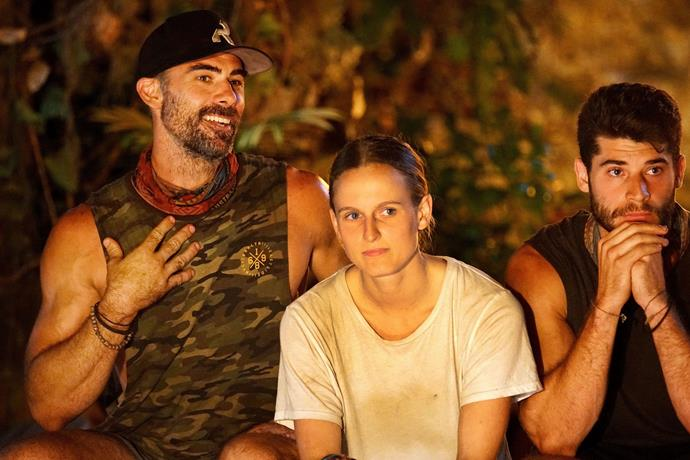 Paige says the tribe was much happier after Zach (left) was eliminated.