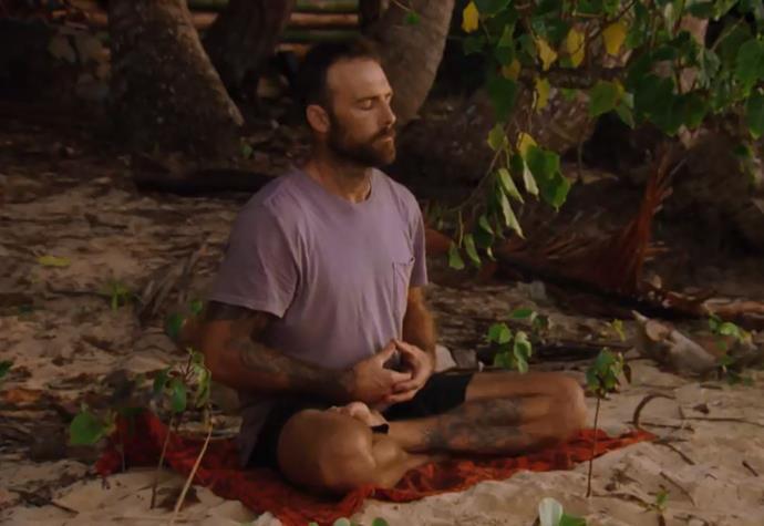 Steve likes to keep things zen on the show and in real life.