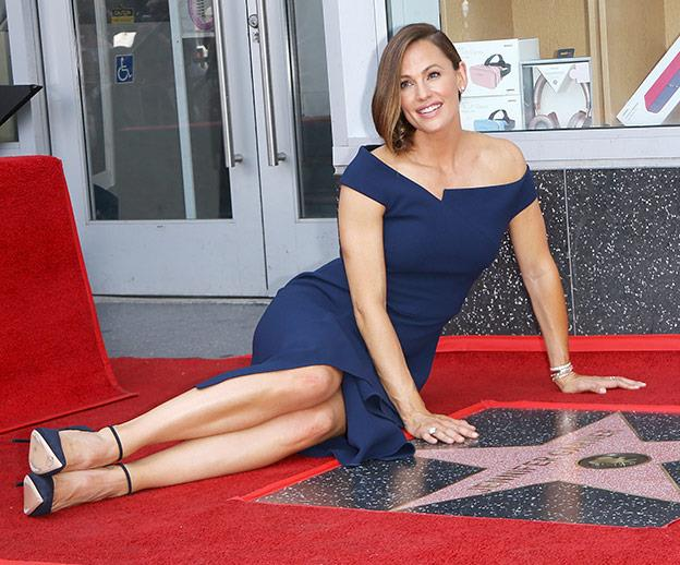 Jen just received a Hollywood star!