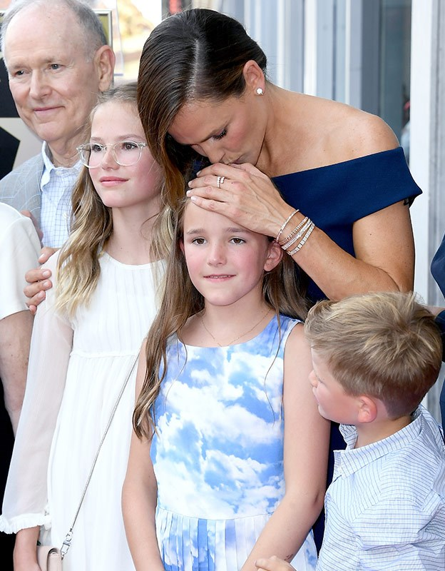 Jen was supported by her biggest fans.  Her kids!