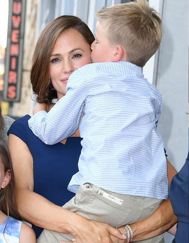 A kiss from Samuel.