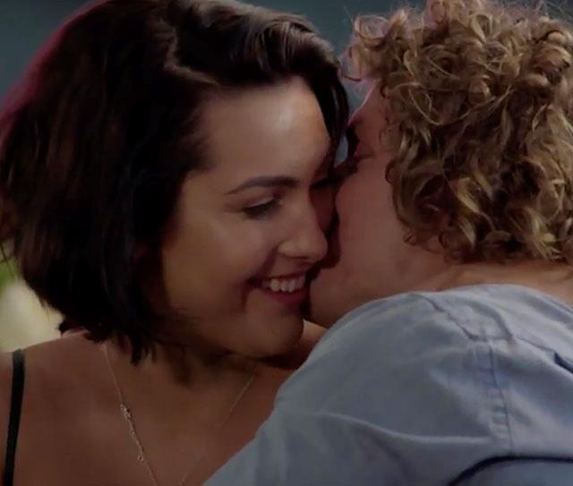 Could this be the most awkward kiss yet?