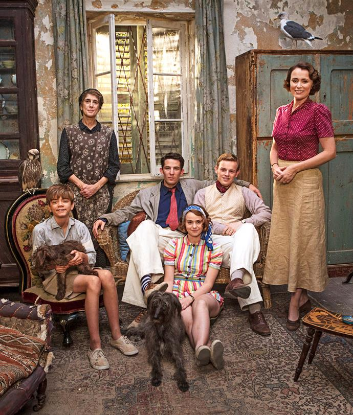 *The Durrells* Characters Gerry, Lugaretzia, Larry, Margo, Leslie and Louisa.