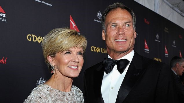 Julie Bishop and current boyfriend David Panton.