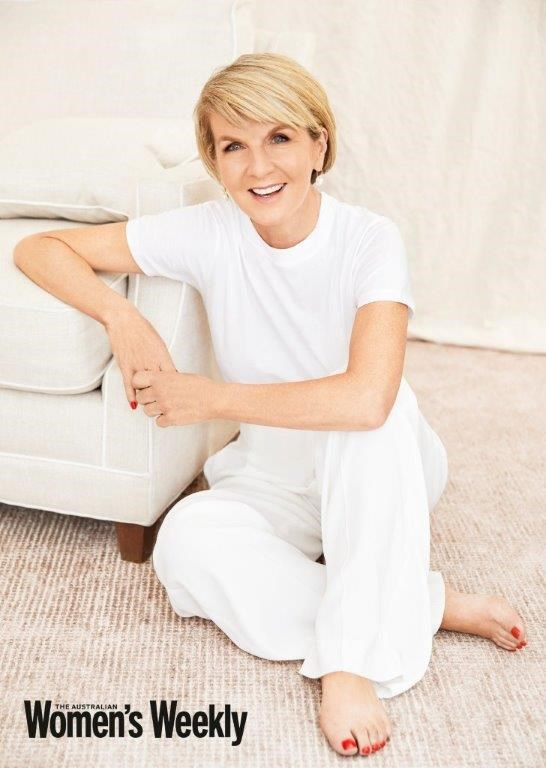 Julie Bishop gave an exclusive interview to this month's edition of *The Australian Women's Weekly*.