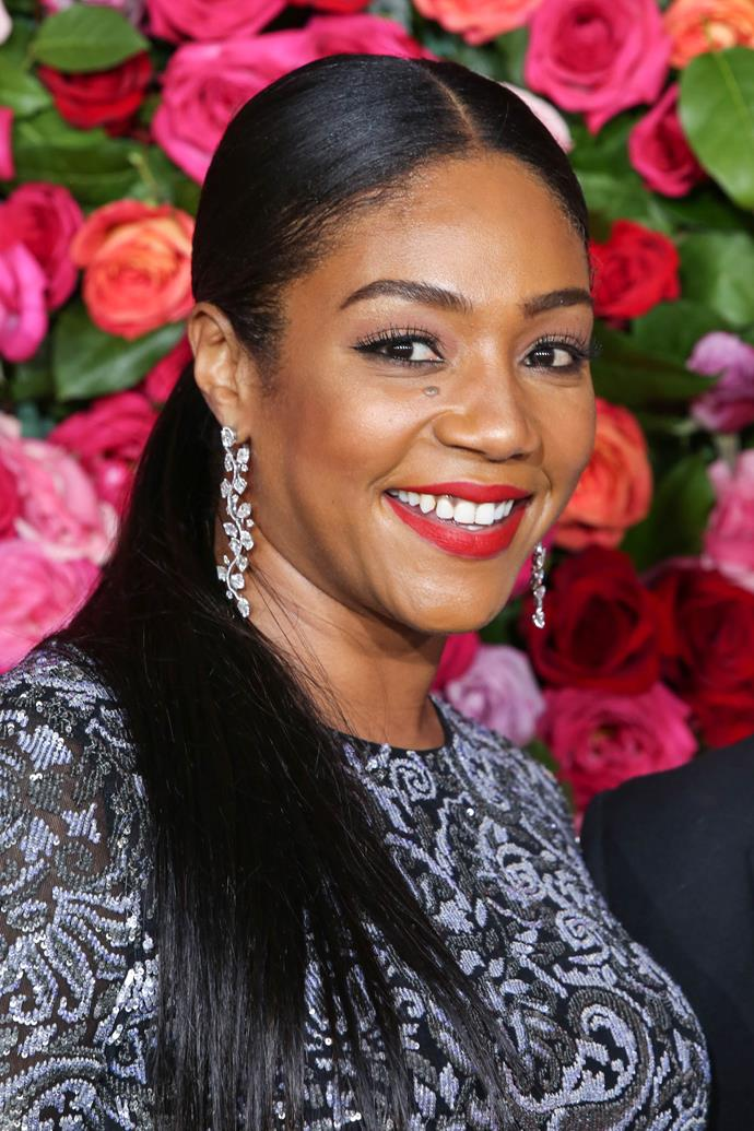 **Tiffany Haddish**  Apart from being one of our favourite stand-up comedians, we loved Tiffany in her latest role as the wild and crazy Dina in *Girls Trip*. We'd love to see her sassiness challenge Darren!