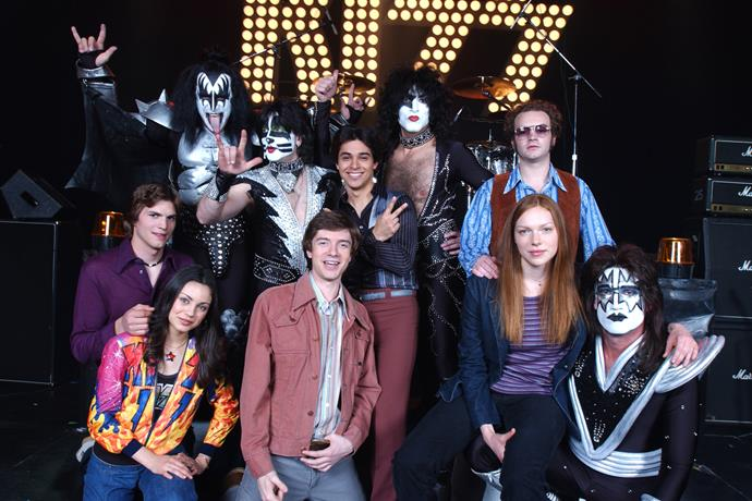 Metal band Kiss had the honour of playing on the show.