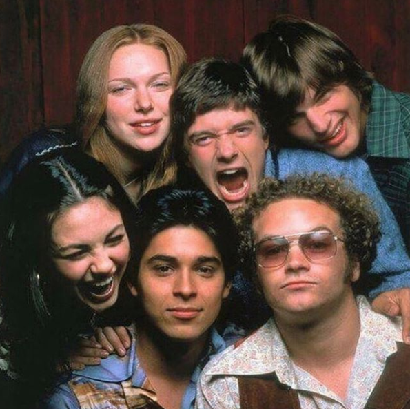 "In honour of the 20-year milestone, Topher shared this original cast photo with his longtime pals.   ""It's rare someone can say they owe everything to one small group of people, but in my case it's true,"" he wrote on Instagram of his co-stars."