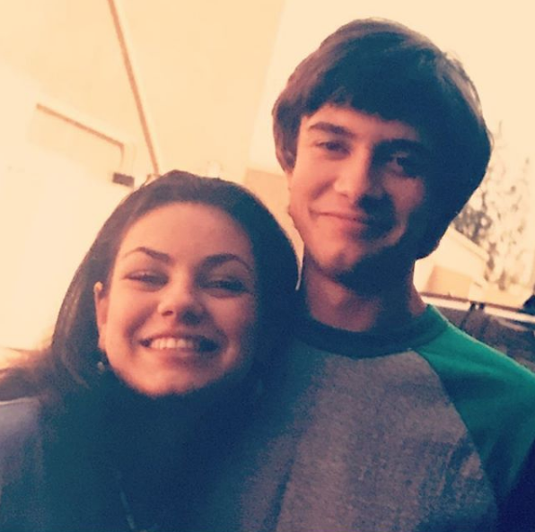 Proving the cast are still close, Topher recently shared this throwback photo with Mila to celebrate her new movie *The Spy Who Dumped Me.*