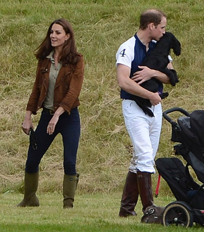 Catherine is believed to have bought the pup for William for Christmas.