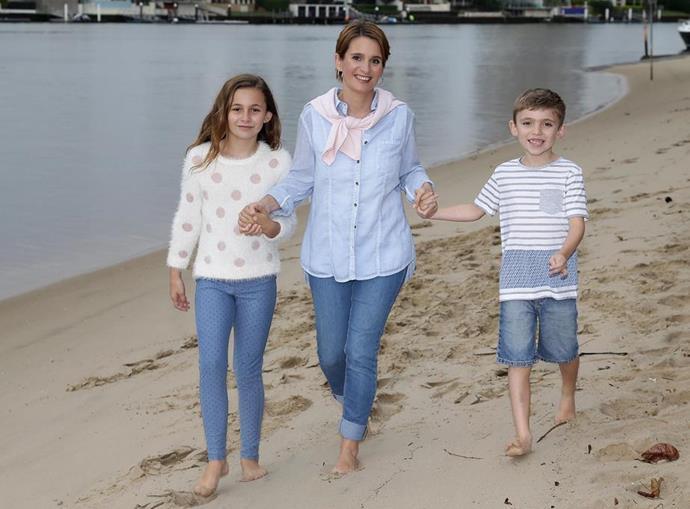 Reggie Sorensen with son Lucas and daughter Mia.