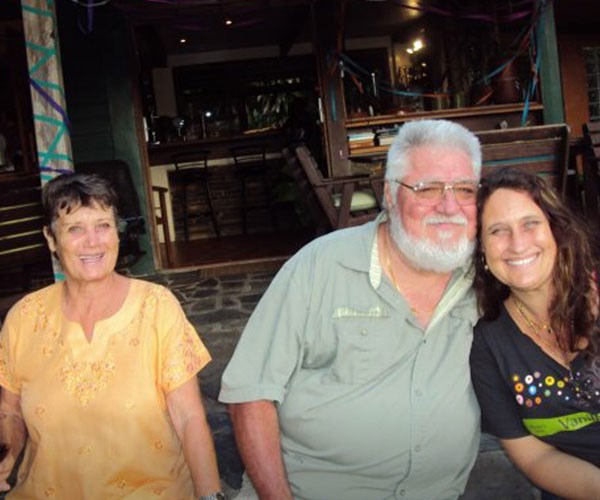 Mum, Dad and I before we got caught. **Pictures exclusive to Take 5**
