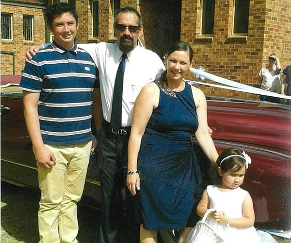 With our kids, Corey and Sophia. **Pictures exclusive to Take 5**