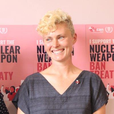 """Working with ICAN has given me a powerful, creative and effective way to work for a world without nuclear weapons."""