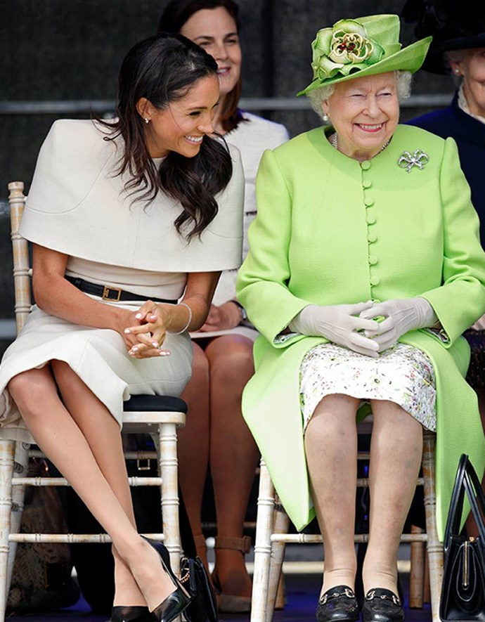 Harry's wife is a hit with Her Majesty.