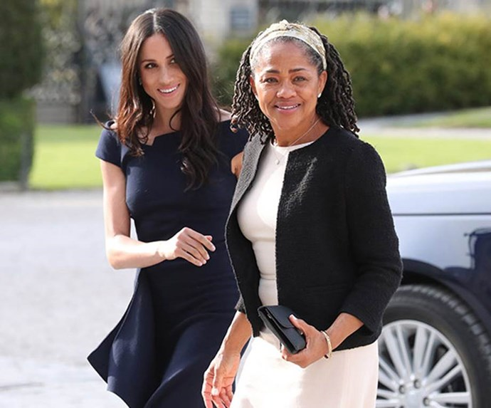 Meghan spent her final moments as a Markle with her superstar mum, Doria.