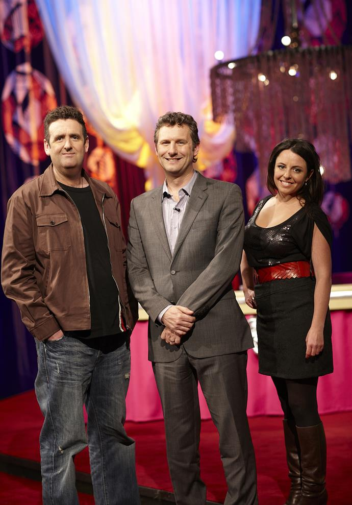 Alan Brough, Adam Hills and Myf Warhurst will reunite for the *Spicks and Specks* special.