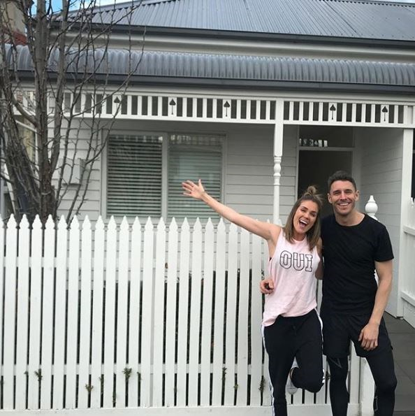 The couple took the next step in their relationship when they moved in to their own love nest in the Melbourne suburb of Richmond.
