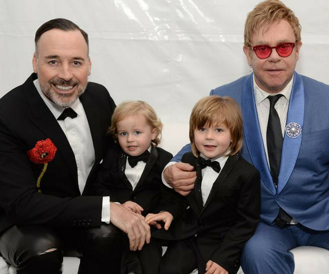 "Iconic singer-songwriter [Elton John was 63 before he became a father for the first time](https://www.nowtolove.com.au/parenting/family/elton-john-gushes-about-his-sons-zachary-and-elijah-31957 |target=""_blank""). He and now-husband David Furnish welcomed their first son, Zachary, via surrogate in 2010, followed three years later by a second son, Elijah."