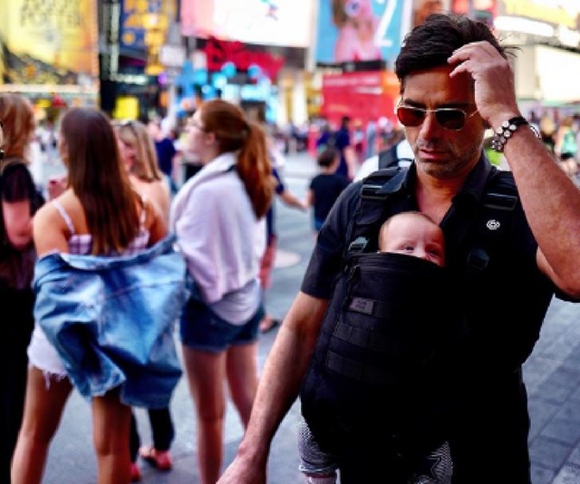 "In April this year, 54-year-old [John Stamos became a father for the first time](https://www.nowtolove.com.au/health/body/john-stamos-and-wife-caitlin-mchugh-welcome-a-baby-boy-46537|target=""_blank"") when he welcomed a son, Billy with wife Caitlin McHugh. *The Full House* actor took to social media to share the news, writing: ""From now on, the best part of me will always be my wife and my son. Welcome Billy Stamos (named after my father),"" *Image: Instagram/JohnStamos.*"