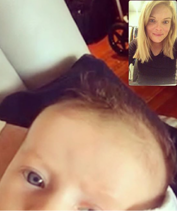 Erin's fiancé Sean Ogilvy makes sure that workig mum Erin and Eliza don't miss too much time together. *Image: Instagram/Erin Molan*