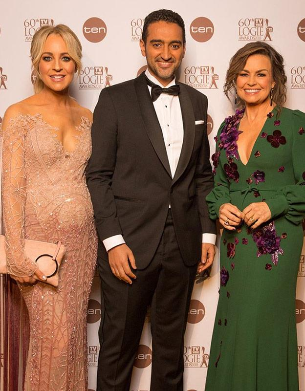Carrie's first event with her bump was the 2018 TV WEEK Logie Awards. The pregnant presenter looked radiant in fitted, glittering Paolo Sebastian gown.