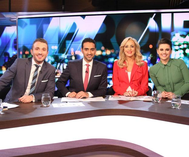 """The sunny blonde isn't afraid to don a bit of colour, particularly red. Here she standouts on the panel in a vibrant blazer by [KEEPSAKE](https://keepsakethelabel.com.au/products/daylight-blazer-red