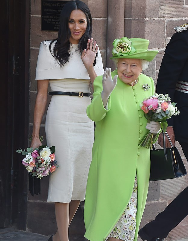 Queen Elizabeth's bold colour choices is cherished across all the lands.