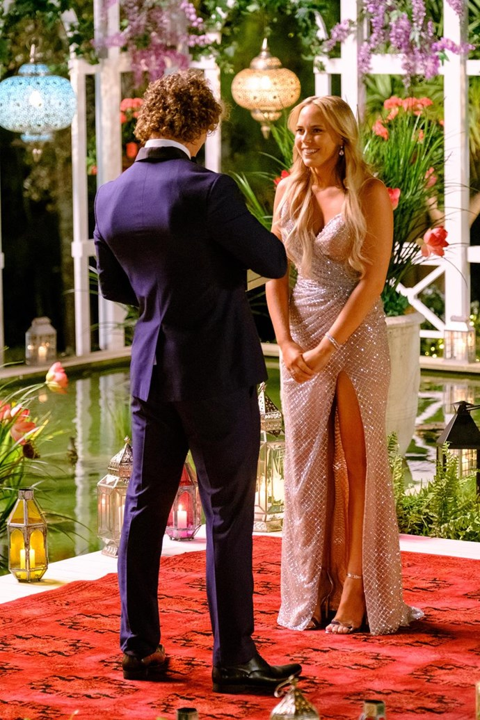 """So far, all we've seen is me being very into Nick. A lot of the conversations between Nick and I haven't yet been shown."" When she dated him prior to the show, Cass says she got to know ""the real"" Bachelor."