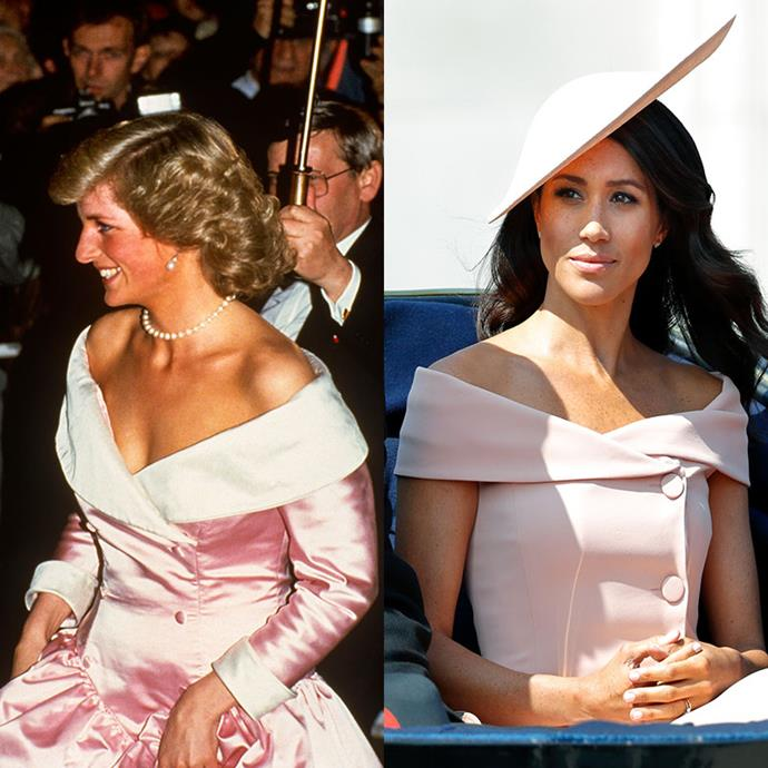 This timeless off-shoulder style is seamlessly elegant - much like these ladies. *(Images: Getty)*