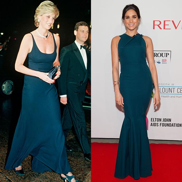 Brunette or blonde, teal can work with any hair or skin type. *(Images: Getty)*