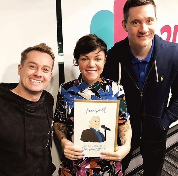 Em with her co-hosts Grant Denyer and Ed Kavalee.