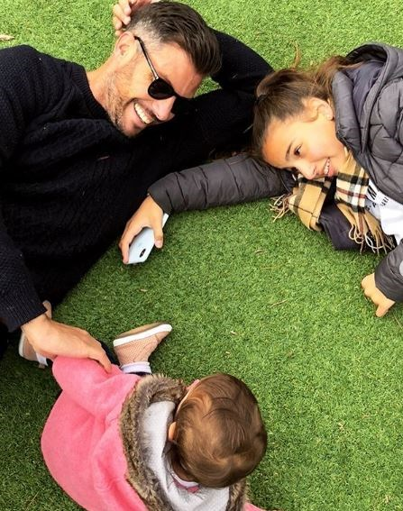 Sam Wood had a play with his stepdaughter Eve and little bub Willow.