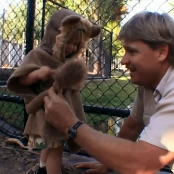 """Bindi Irwin posted a heartwarming tribute to her late dad, Steve, with a video of her as a toddler dressed as a lion. """"I'm thankful every day that these moments were captured on camera,"""" she wrote."""