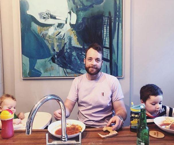 Zoe Foster Blake posted this adorable snap of husband Hamish Blake and their two tots, Sonny and Rudy.