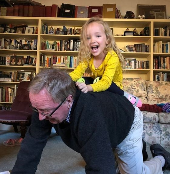 Fifi Box's dad had a fun day with his granddaughter Trixie.