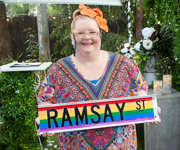 Aussie TV icon, Magda Szubanski, joins the cast of Neighbours in a guest role as the celebrant for the first legal same sex wedding on Australian television.