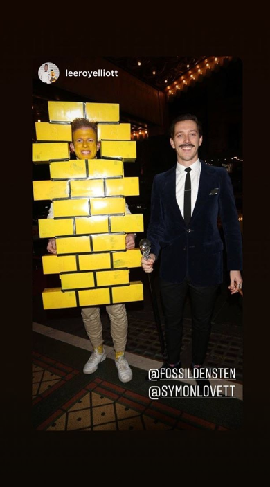 Symon and Adam from *Gogglebox* also attended, with Symon dressing as the yellow brick road and Adam as Gomez from the *Addams Family*.