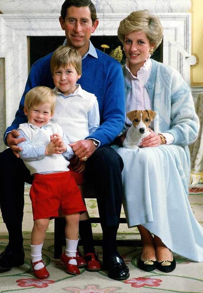 One's royal Christmas card: Charles, Diana, William and Harry in 1986.